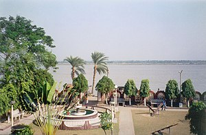Ichamati River - View from Taki Guest House. The shores of Bangladesh are visible on the other side of Ichamati River.