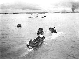 Tarakan, North Kalimantan - Allied landing during Battle of Tarakan (1945).