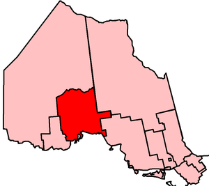 Thunder Bay—Superior North (provincial electoral district) - Thunder Bay—Superior North in relation to the other northern Ontario electoral districts