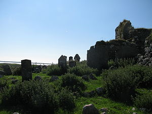Carinish - Image: Teampull na Trionad Graveyard