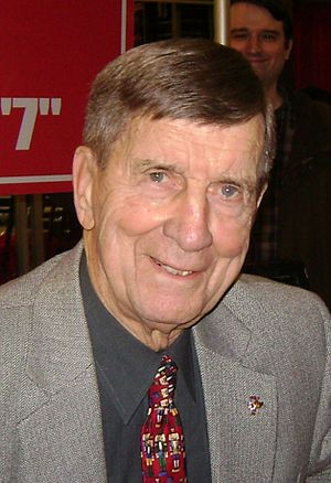 Ted Lindsay - Ted Lindsay at a book signing in Joe Louis Arena in 2011
