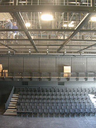 Tension grid - Tension grid assembly with removable modules at La Jolla Playhouse's Potiker Theater