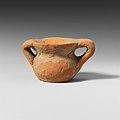 Terracotta miniature vase with two handles MET DP121677.jpg