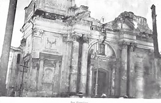 1917 Guatemala earthquake - San Francisco church after the earthquakes.