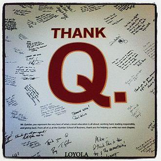 Loyola University Chicago Quinlan School of Business - Thank Q Card