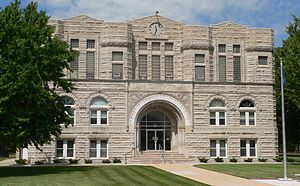 Thayer County, Nebraska courthouse from E 1.JPG