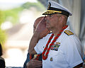 The 69th anniversary of the end of World War II aboard the Battleship Missouri Memorial 140902-N-WF272-022.jpg