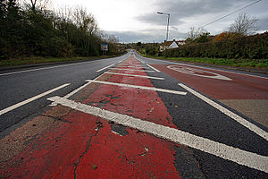 A432 road - The A432 road just outside Coalpit Heath, South Gloucestershire