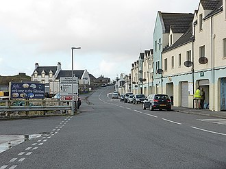 Lochboisdale - Image: The A865 road through Lochboisdale (geograph 4245080)