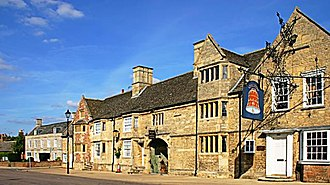 Stilton cheese - The Bell Inn at Stilton, Cambridgeshire, in 2005
