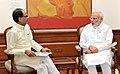 The Chief Minister of Madhya Pradesh, Shri Shivraj Singh Chouhan calling on the Prime Minister, Shri Narendra Modi, in New Delhi on June 17, 2015.jpg