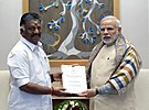The Chief Minister of Tamil Nadu, Shri O. Panneerselvam calling on the Prime Minister, Shri Narendra Modi, in New Delhi on January 19, 2017.jpg