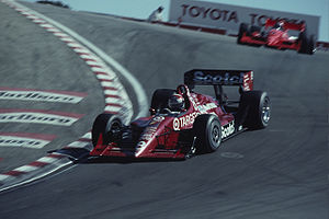 Eddie Cheever - Cheever driving for Chip Ganassi Racing at Laguna Seca Raceway in 1991