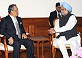 The Deputy Prime Minister of Malaysia, H.E. Tan Sri Muhyiddin Hj calling on the Prime Minister, Dr. Manmohan Singh, in New Delhi on March 10, 2011.jpg