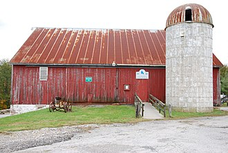 Historical Society of Baltimore County - The barn housing the Dickenson-Gorsuch Farm Museum