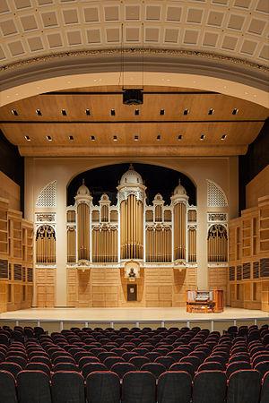 Kotzschmar Memorial Organ - The newly renovated Kotzschmar Organ at Merrill Auditorium, Portland, Maine. October, 2014