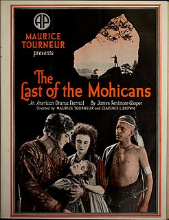 <i>The Last of the Mohicans</i> (1920 American film) 1920 film by Maurice Tourneur, Clarence Brown