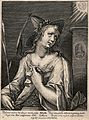 The Libyan sibyl. Engraving by M. de Passe after C. de Passe Wellcome V0035893.jpg