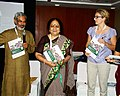 The Minister of State (Independent Charge) for Environment and Forests, Smt. Jayanthi Natarajan releasing the outcome document on Education and Biodiversity Conservation at CoP- 11, Hyderabad on October 18, 2012.jpg