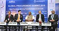 "The Minister of State for Finance and Shipping, Shri P. Radhakrishnan at the inauguration of the 'Global Procurement Summit 2018' on ""New Frontiers faced in the Transformation process of Procurement Today"", in New Delhi.jpg"
