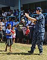 The Pacific Fleet Band entertains children in Savusavu, Fiji, during Pacific Partnership 2015 150612-N-HE318-158.jpg