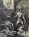 The Phillip Medhurst Picture Torah 172. Simeon and Levi slay Hamor and Shechem. Genesis cap 34 vv 25-26. Caspar Luyken.jpg