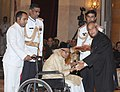 The President, Shri Pranab Mukherjee presenting the Padma Bhushan Award to Ustad Abdul Rashid Khan, at an Investiture Ceremony-II, at Rashtrapati Bhavan, in New Delhi on April 20, 2013.jpg