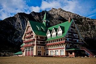 Prince of Wales Hotel building in Alberta, Canada