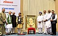 The Vice President, Shri M. Hamid Ansari at the lighting of lamp at an event to present the Lokmat Parliamentary Awards 2017, in New Delhi.jpg