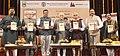 The Vice President, Shri M. Hamid Ansari releasing the book 'August Voices', authored by Shri Sudheendra Kulkarni, in Mumbai on December 28, 2016. The Minister of Education of Maharashtra, Shri Vinod S. Tawde is also seen.jpg