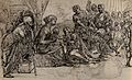 The adoration of the Magi. Pen and ink drawing. Wellcome V0049498.jpg