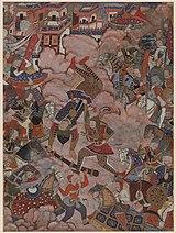 The Battle of Mazandaran, from the Hamzanama