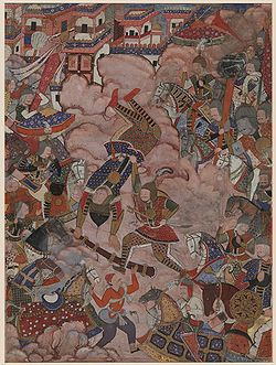 The Battle of Mazandaran, from the Hamzanama