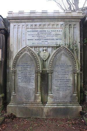 Alexander Monro (tertius) - The grave of Alexander Monro tertius, Dean Cemetery