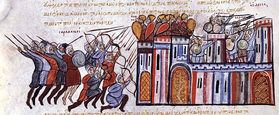 The seizure of Edessa in Syria by the Byzantine army and the Arabic counterattack from the Chronicle of John Skylitzes