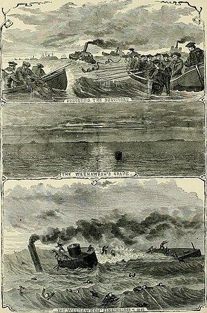USS Weehawken (1862) - Death of the Weehawken