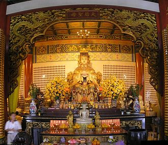 Thean Hou Temple - Interior with Mazu