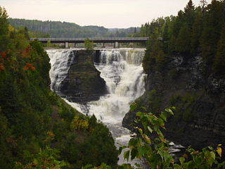 waterfalls on the Kaministiquia River, Ontario