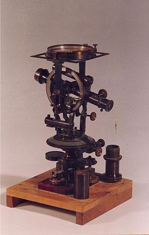 German Protestant Institute - The theodolite used by Gottlieb Schumacher in the museum of the institute