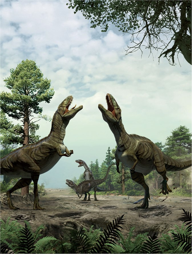 Theropod courtship