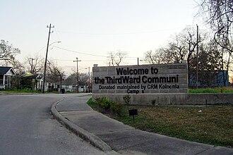 Third Ward, Houston - A sign indicating Houston's Third Ward