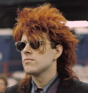 Big hair - Tom Bailey of the Thompson Twins, 1986