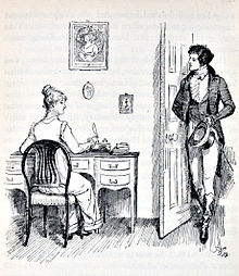 pride and prejudice  elizabeth and mr darcy by hugh thomson 1894