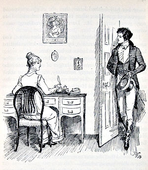 Pride and Prejudice - Elizabeth and Mr. Darcy by Hugh Thomson, 1894