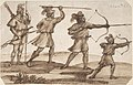 Three Archers and a Figure with a Spear MET DP805693.jpg