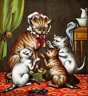 Three Little Kittens - Illustration of the rhyme from 1874