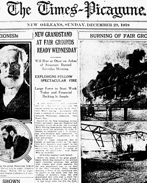 Front page of Dec. 29, 1918 Times-Picayune new...