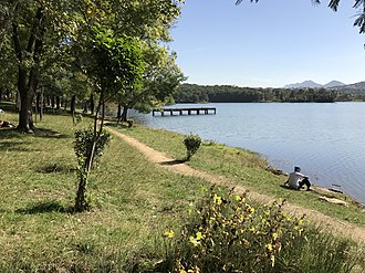 Grand Park of Tirana - View of the Lake.