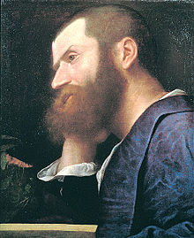 Pietro Aretino, in Titian's first portrait of him