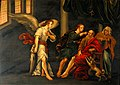 Tobias curing the blindness of Tobit. Oil painting. Wellcome V0017373.jpg